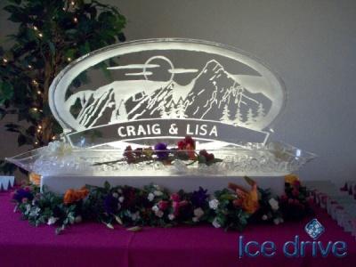 Логотип из льда